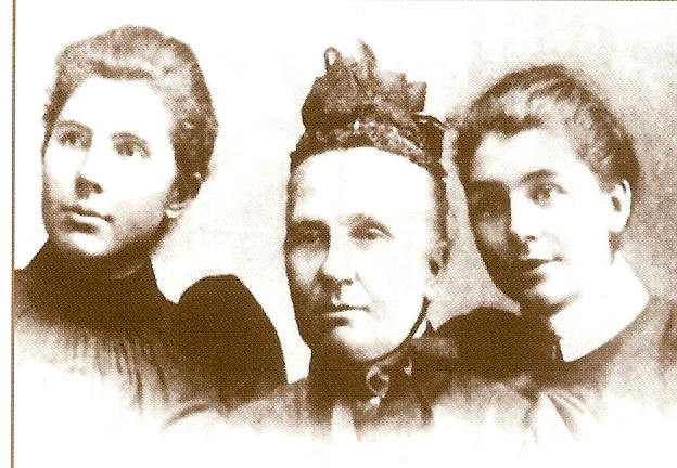 Mrs Eliza Saunders with her daughters